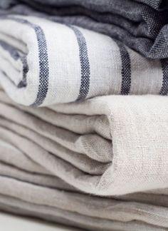 cloth linen fabrics neutrals stripes blue white beige navy grey