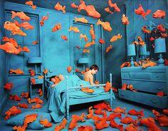 Revenge of the Goldfish' by Sandy Skoglund. (1981)