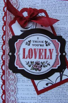 My Tanglewood Cottage:  You're Lovely Red, black and white are among my f...