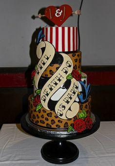 Retro Wedding Cake From Sweet Treets Bakery Facebook