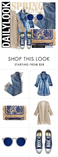 """""""Untitled #177"""" by polyvore-suzyq ❤ liked on Polyvore featuring Brock Collection, MANGO, Illesteva and Converse"""