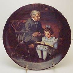 This is The Little Scholar from the Heritage series by Knowles. Available now at www.rockwellplates.com. Norman Rockwell, Decorative Plates, Display, Collection, Home Decor, Floor Space, Decoration Home, Billboard, Room Decor