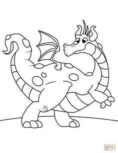Dragon Coloring Page From Category Select 29500 Printable Crafts Of Cartoons Nature