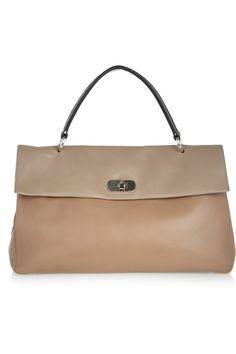 Marni|Color-block leather tote|NET-A-PORTER.COM