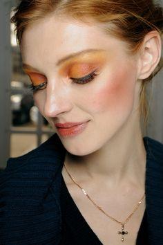 peach + orange #makeup.