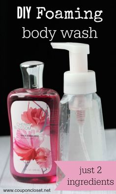 How to make foaming body wash. Stretch your money by making your own. It is so easy to do!