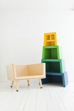 chair and shelf