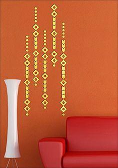 Diamond Arrow Golden Pure Cast Quality 3D Mirror Finish Acrylic Sticker   #wallsticker #walldecals #homedecor #interiordesign #design Golden Wall, 3d Mirror, Mirror Stickers, Wall Decals, Arrow, Pure Products, Diamond, Stuff To Buy, Design
