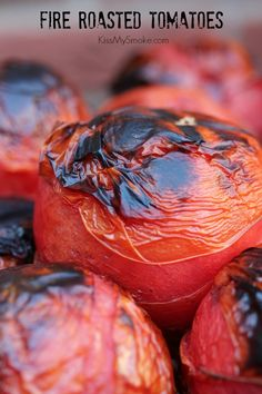 Fire Roasted Tomatoes _ are great in pasta sauces, salsas, chili and soup. You can whip these bad boys up on your grill super fast. Grilling Recipes, Vegetable Recipes, Barbecue Recipes, Blush Sauce, Tomato Bisque, Great Recipes, Healthy Recipes, Savarin, Fire Roasted Tomatoes