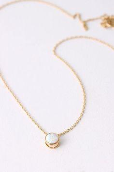 gold white opal necklace #artdeco