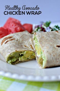 Healthy and delicious Avocado Chicken Wrap - simple to make and so good! A healthy alternative for lunch or dinner.