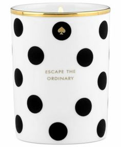 The glow from this darling @kate spade new york candle will add the perfect ambiance to any holiday party #artofstyle