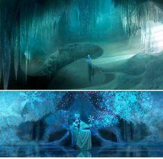 Frozen - Concept Art by Lisa Keene my favorite part of Frozen--- concept art