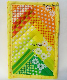 PK Quilted Plate Pad in Happy Tones 1  Pot Holder  Hot by PKStuff, $5.00