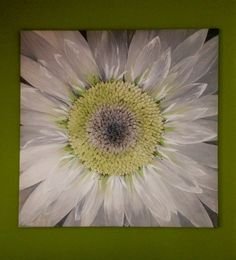 Modern painting/ Original flower painting/ Large art/ Art wall painting/ Daisy…