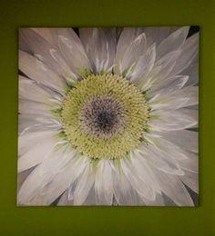 Grande dipinto floreale/ Dipinto moderno/ Dipinto con margherita/ Arte e oggetto…