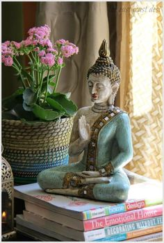 Why Include ZENsational decor to your home ? With my deep rooted Indian origin, I find myself drawn to countries that are steeped in history, culture, art, architecture……. Asian Decor, Indian Home Decor, Meditation Corner, Oriental Decor, Zen Room, Buddha Art, Traditional Decor, House Styles, Inspiration