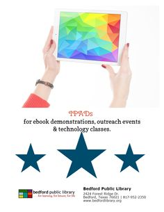 Wow what a great way to promote Bedford Public Library's iPad classes. Love this flyer! ...Love that they made it in LibraryAware ;-)