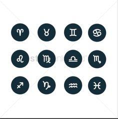 Set of horoscope icons stock vector , Next Restaurant, Lake Eola, Unique Vacations, Travel Inspiration, Vector Stock, Vectors, Icons, Graphics, Ikon