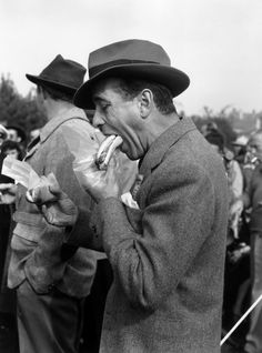 "Proof that #Bogart meant what he said: ""A hot dog at the ball park is better than steak at the Ritz."""