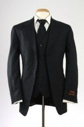 NWT Jones New York Charcoal Black 3 Piece Suit Wool/Cashmere 40 R