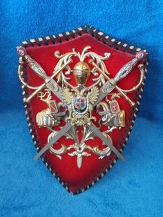 Old Midevil Coat of Arms Decorative Wall Plaque with 2 Removable Swords | eBay