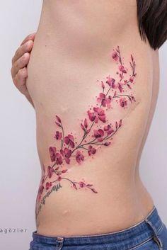 Cute Tattoos For Women, Trendy Tattoos, Tattoos For Guys, Cool Tattoos, Black Cherry Tattoo, Cherry Tattoos, Cover Up Tattoos, Body Art Tattoos, Cherry Blossom Tattoo Shoulder