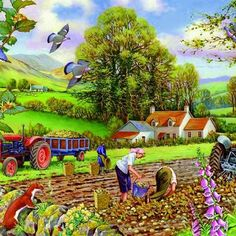 Пазл онлайн: Сбор урожая