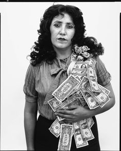 Richard Avedon - Petra Alvarado factory worker on her birthday El Paso Texas, 1982 - In the American West