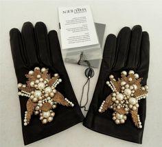 ALEXANDER MCQUEEN Black Lamb Leather Gloves SZ7 -Great Gift!   eBay