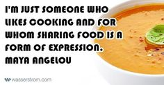 """2 Likes, 1 Comments - Wasserstrom (@thewasserstromcompany) on Instagram: """"Cooking is an expressive art form. #mayaangelou #quote #quotes #cooking #cook #chef #chefs #cooks…"""""""