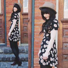 Jocelyn Jacobson - Lush Flower Dress, Goorin Bros Hat - I'll follow the sun