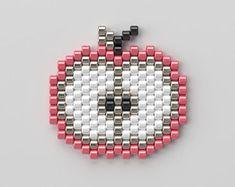 Diy Wax, Charm Jewelry, Unique Jewelry, Loom Patterns, Brick Stitch, Cross Stitch, Beaded Bracelets, Pearls, Etsy