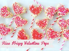 Rice Krispy Valentine Pops | The Larson Lingo | Bloglovin'