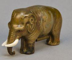 Figural Brass Elephant Tape Measure Beautiful : Lot 192