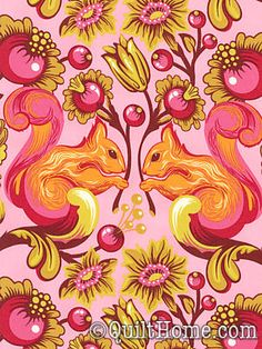 The Birds & the Bees Laminates OCTP009-Sunset Laminate Fabric by Tula Pink