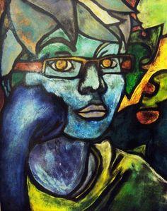 Tempera/ink wash batiks - Mood Self-Portraits High School Art, Middle School Art, 8th Grade Art, Batik Art, Cool Art Projects, Ap Art, Arts Ed, High Art, Art Classroom