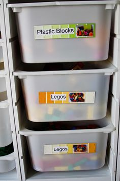 14 Toy Organization Tips. Keep Toys Organized with Easy DIY Paint Chip Labels