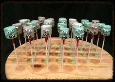 Marshmallow Zombie Pops Made to order 12 by WickedlyWhipped