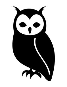 Owl Silhouette | H & M Coloring Pages