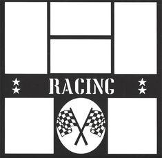 Racing 12 x 12 Overlay Laser Die Cut