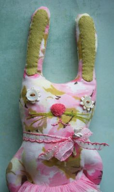 Francesthe little stuffed vintage easter bunny by juliecollings, $44.00