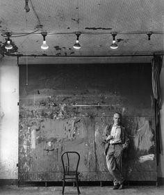 Willem de Kooning in his studio.