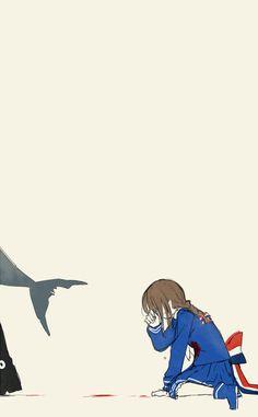 Wadanohara and the Great Blue Sea Fanart Wadanohara and Samekichi Chibi Anime, Anime Kawaii, Anime Art, Scariest Video Games, The Gray Garden, Shark Games, Alice Mare, Rpg Maker, Maker Game