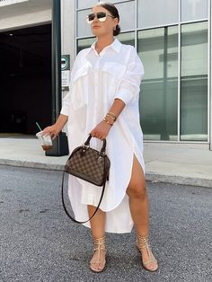 Casual Chic Outfits, Curvy Outfits, Plus Size Outfits, Girl Outfits, Fashion Outfits, White Shirt Outfits, Looks Street Style, Looks Style, Look Fashion
