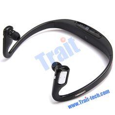 wireless tech | Black Bluetooth Wireless Stereo Headset For PC/Smartphone - Brand ...