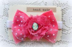 Pink Felt Flower Bow   http://www.etsy.com/listing/97458113/pink-felt-bow-headband-baby-girls