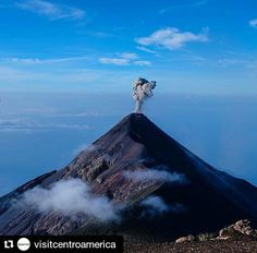 "#Repost @visitcentroamerica with @repostapp  ""I never thought I'd watch a volcano erupt in real life. I could see hear and feel Volcán de Fuego spit out lava and smoke all night and into the early hours of the morning as I hiked Volcán Acatenango. It was one of the most incredible things I've ever seen."" Thanks for the beautiful caption and stunning photo @laviwashere  #volcandefuego #Guatemala #chimaltenango #volcano #beautifuldestinations #centralamerica #passionpassport #passportready…"