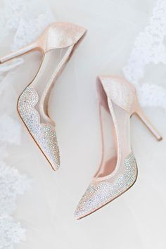 33 Comfortable Wedding Shoes That Are Oh-So-Stylish ❤️ comfortable wedding shoes ivory high heels sparkle amyrizzuto ❤️ See more: http://www.weddingforward.com/comfortable-wedding-shoes/ #weddingforward #wedding #bride
