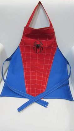 Spiderman Apron Child Size by ButtonOnBowTies on Etsy